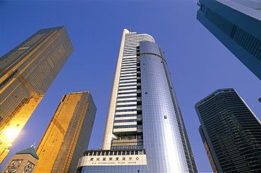 Modern skyline, Guangzhou, Guangdong Province, China, Asia