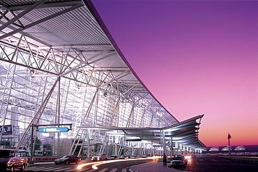 Guangzhou Airport at dawn, Guangzhou, Guangdong Province, China, Asia