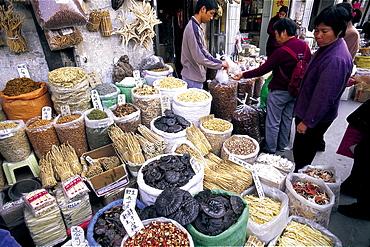 Traditional Chinese foodstuffs, Qingping Market, Guangzhou, Guangdong Province, China, Asia