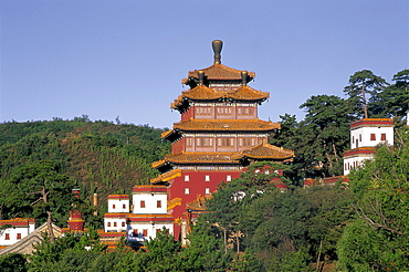 Temple of Universal Peace dating from 1755, Chengde, Hebei Province, China, Asia