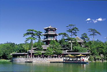 Jin Shan Pagoda, Imperial Summer Palace, Chengde, Hebei Province, China, Asia