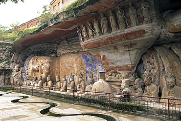 The Buddhist Cliff Sculptures, created during the Tang to Song Dynasties in the 9th to 13th centuries, Dazu, UNESCO World Heritage Site, Chongqing Province, China, Asia