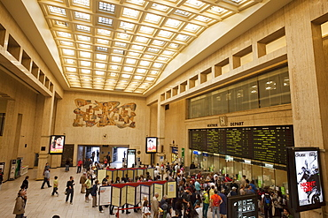 Ticket hall, Brussels Central Train Station, Brussels, Belgium, Europe