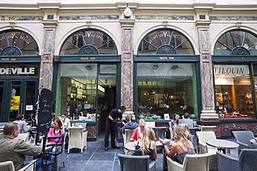 Restaurant in Galleries St. Hubert Shopping Arcade, Brussels, Belgium, Europe