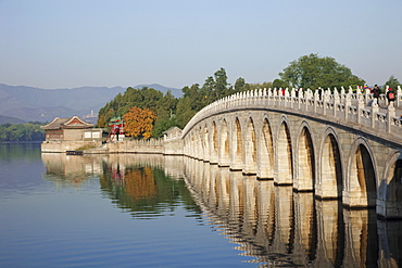 Seventeen Arched Bridge, The Summer Palace, UNESCO World Heritage Site, Beijing, China, Asia