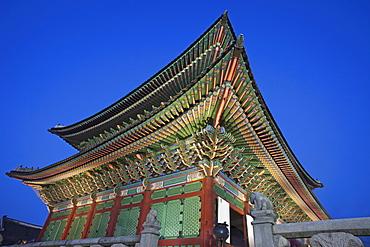 Geunjeongjeon Throne Hall, Gyeongbokgung Palace, Seoul, South Korea, Asia
