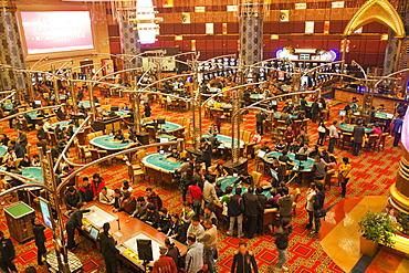 Gaming floor, Grand Lisboa and Casino Lisboa Hotel and Casino, Macau, China, Asia