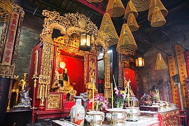 Incense sticks and coils, Sam Kai Vui Kun Temple, Macau, China, Asia