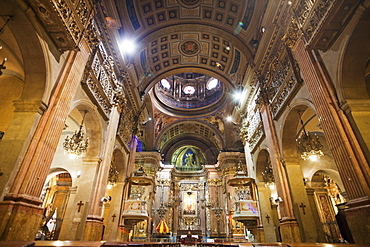 Interior, Basilica of Our Lady of Mercy, The Gothic Quarter, Barcelona, Catalonia, Spain, Europe