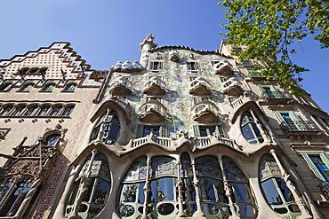 Casa Batllo, UNESCO World Heritage Site, and Casa Amatller, Barcelona, Catalonia, Spain, Europe