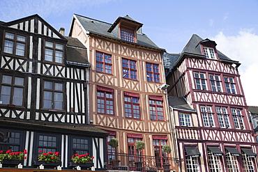 Restaurants in the Place du Vieux-Marche, Rouen, Normandy, France, Europe