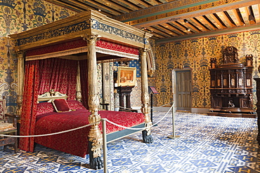 Henry III Bedchamber, Blois Castle, UNESCO World Heritage Site, Blois, Loir et Cher, Loire Valley, France, Europe