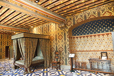 Catherine de Medici Bedchamber, Blois Castle, UNESCO World Heritage Site, Blois, Loir et Cher, Loire Valley, France, Europe