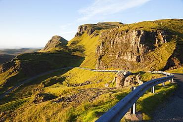 The Quiraing mountain, Isle of Skye, Inner Hebrides, Scotland, United Kingdom, Europe