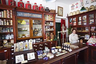 General store interior, Blists Hill Victorian Town Museum, Coalport, Ironbridge Gorge, Shropshire, England, United Kingdom, Europe
