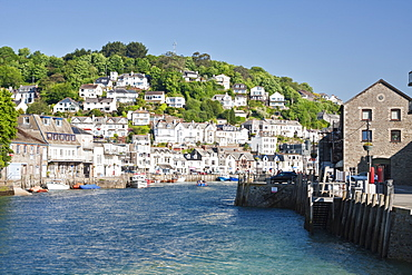 The harbour in Looe in Cornwall, England, United Kingdom, Europe