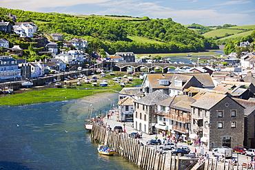The River Looe at Looe in Cornwall, England, United Kingdom, Europe