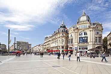 The Place de la Comedie, Montpellier, Languedoc-Roussillon, France, Europe