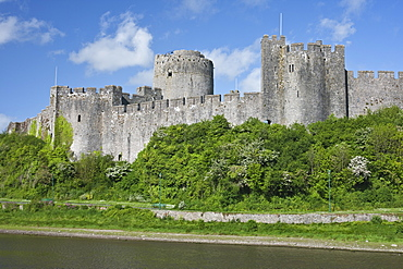 Pembroke Castle in Pembroke, Pembrokeshire, Wales, United Kingdom, Europe