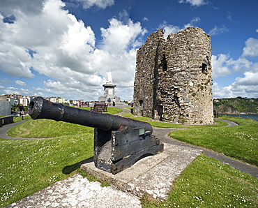 Tenby Castle, Tenby, Pembrokeshire, Wales, United Kingdom, Europe