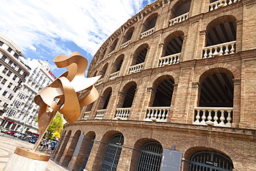 The famous bullring, Plaza de Toros, in Valencia, Spain, Europe