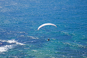 A wind glider over the coastline