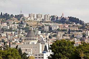 Church of the Annunciation in the modern city of Nazareth in the Lower Galilee, Israel
