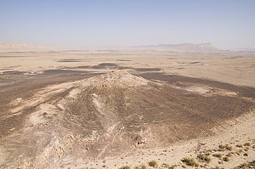 Aerial Ramon Crater in the Negev desert, Israel