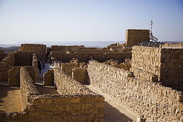 ruins of the archeologic site of Masada in the Judean desert, Israel