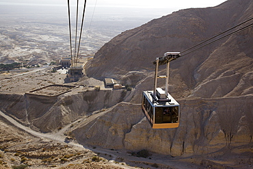 cable car of the archeologic site of Masada, Israel