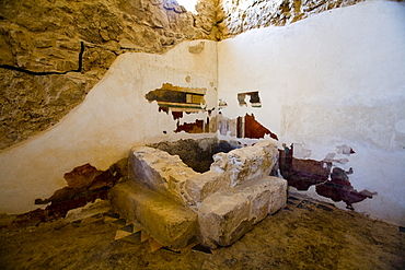 Photograph a Roman Bath house in the archeologic site of Masada, Israel