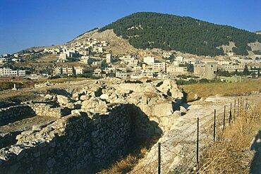 ruins of Tel Balata in the modern town of Nablus, Israel