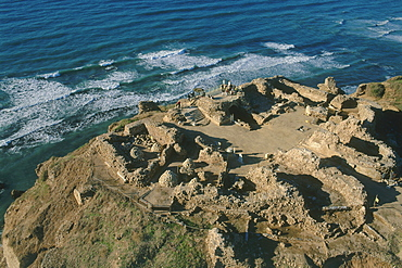 Aerial castle of Arsuf in the coastal plain, Israel