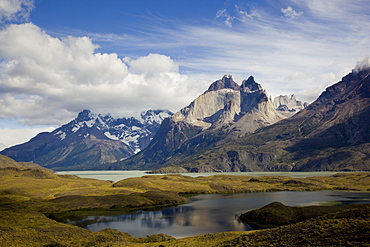 mountains of Torres Del Paine in Patagonia Chile