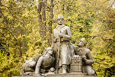 Photograph of a war monument in Plovdiv Bulgaria