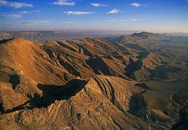 Aerial southern wall of the Ramon crater, Israel