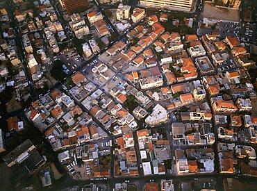 Aerial Shabazi neighborhood in southern Tel Aviv, Israel