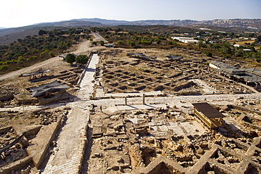 Aerial photograph of the archeologic site of sepphoris in the lower galilee, Israel