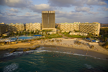 Aerial photograph of the recreation of Olga on the beach, Israel