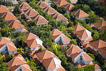 Aerial photograph of a typical neighborhood in the Sharon, Israel