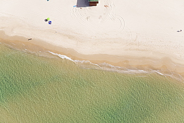 Aerial photograph of a typical coastline of Israel, Israel