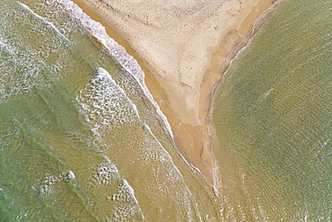 Abstarct view of the coastline of the southern Coastal Plain, Israel