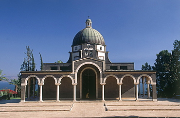 Photograph of the church of the Beatitudes near the Sea of Galilee, Israel