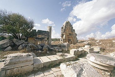 Photograph of the ruins of Tel Kedesh in the Upper Galilee, Israel