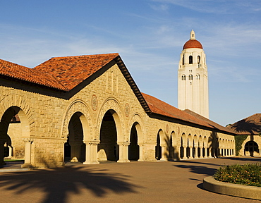 Hoover Tower near the Main Quad at Stanford University in the San Francisco Bay Area, Palo Alto, California, United States of America, North America