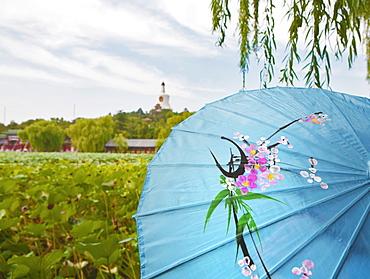 The Bai Ta, White Buddhist Stupa, on Qionghua Island in BeiHai Park, Beijing, China, Asia