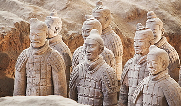 Terracotta warrior figures in the Tomb of Emperor Qinshihuang, Xi'an, Shaanxi Province, China