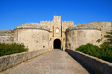 Amboise Gate, Grand Master's Palace, City of Rhodes, UNESCO World Heritage Site, Rhodes, Dodecanese, Greek Islands, Greece, Europe