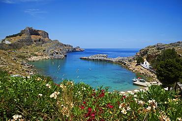 St. Paul Beach. Lindos, Rhodes, Dodecanese, Greek Islands, Greece, Europe