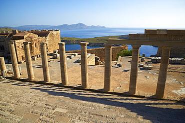 Lindos Acropolis, Lindos, Rhodes, Dodecanese, Greek Islands, Greece, Europe